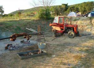 Шашлык трактором