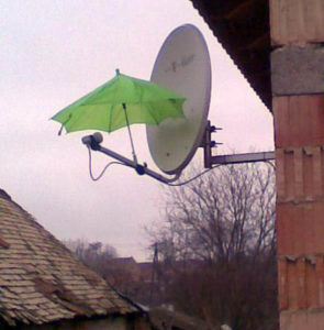 Навес для спутниковой антенны