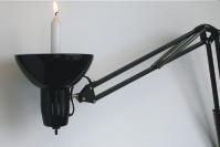Светильник из настольной лампы.