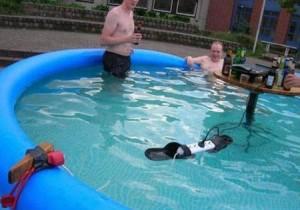 Экстремальное купание.