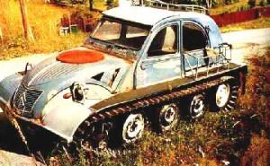 Гусеничный автомобиль.