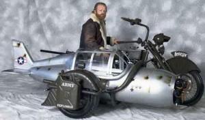 Мотоцикл из самолета.