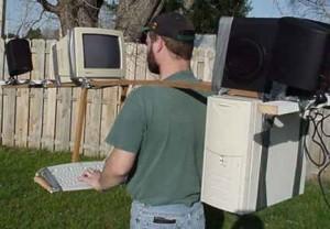 Переносной компьютер.