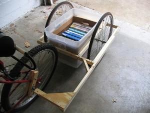 Самодельный прицеп для велосипеда.