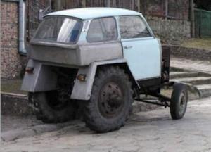 Самодельная кабина для трактора.