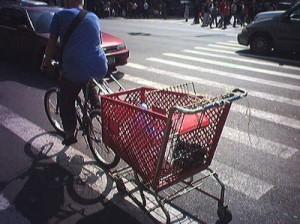 Тележка для велосипеда.