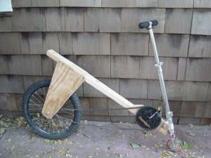 Велосипед из самоката.