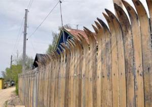 Забор лыжника.