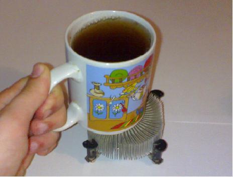 Подставка для чашки из радиатора