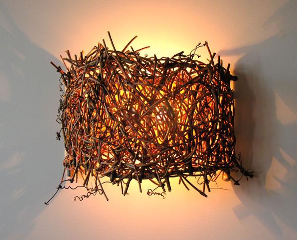светильник из веток