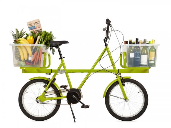 Необычный багажник для велосипеда