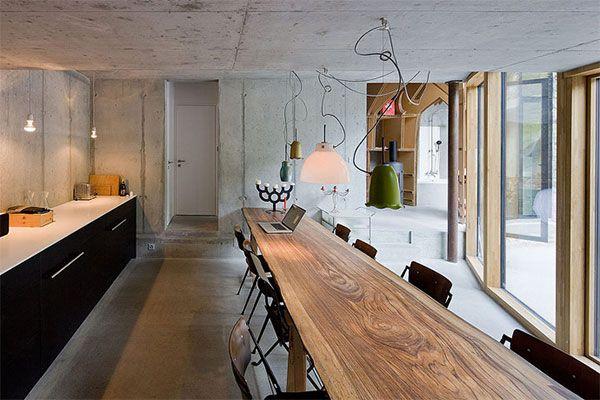 Подземный дом в Швейцарии