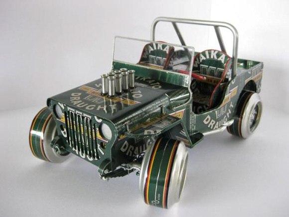 Автомобиль из алюминиевых банок