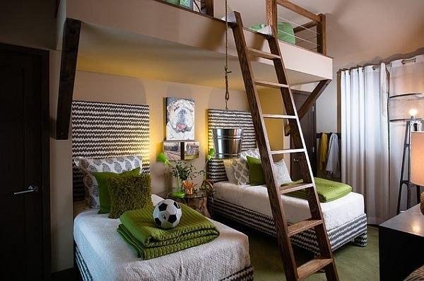 Многоэтажная спальня