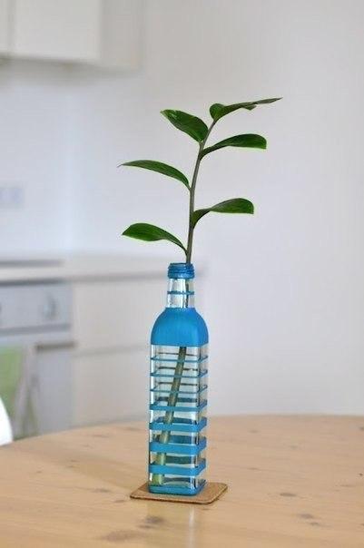 Самодельная ваза из бутылки