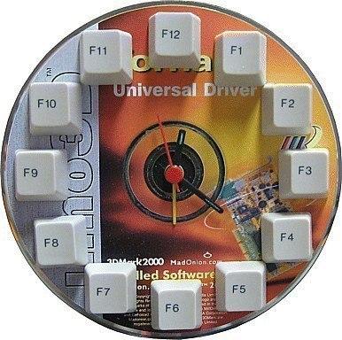Часы из компакт диска