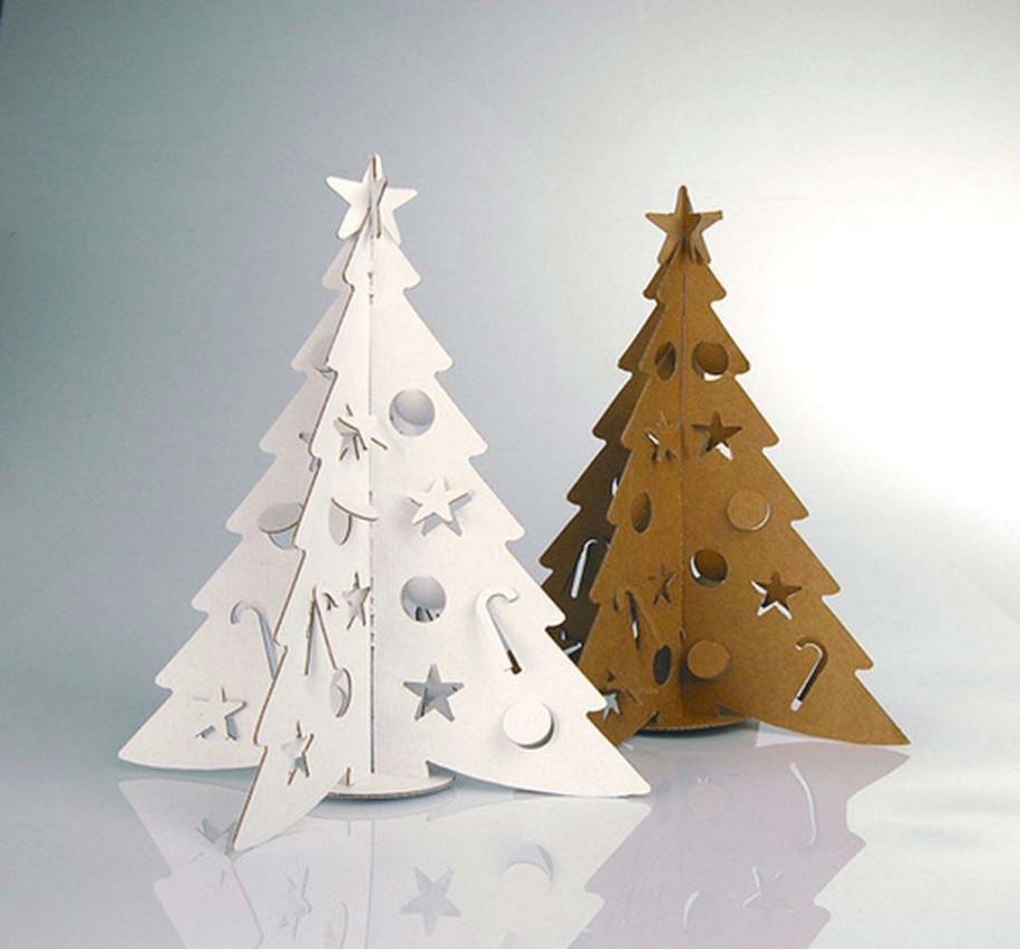 Новогодние игрушки из бумаги и картона своими руками фото