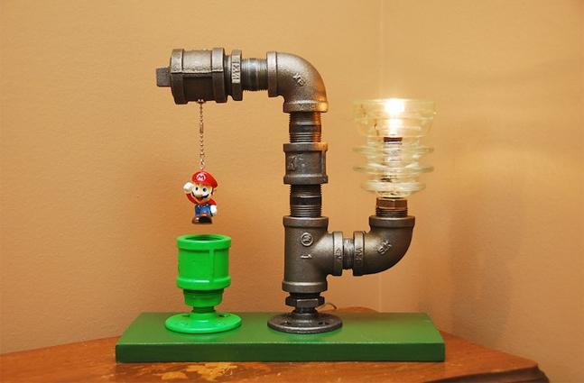 Светильники из водопроводной фурнитуры