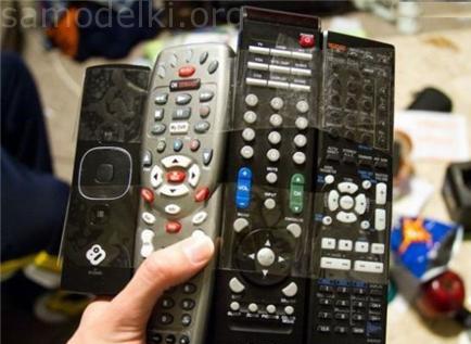 Если много пультов от телевизора