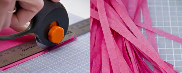 Бумажные гирлянды с кисточками своими руками