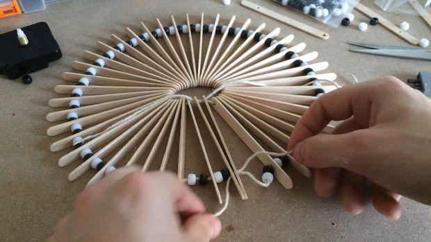 Часы настенные дизайнерские своими руками