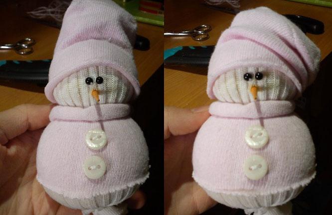 Новогодние снеговики из носков своими руками