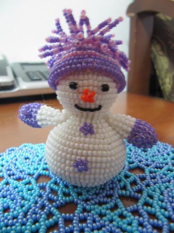 Поделка своими руками снеговик объемный