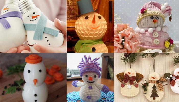 Новогодние снеговики своими руками