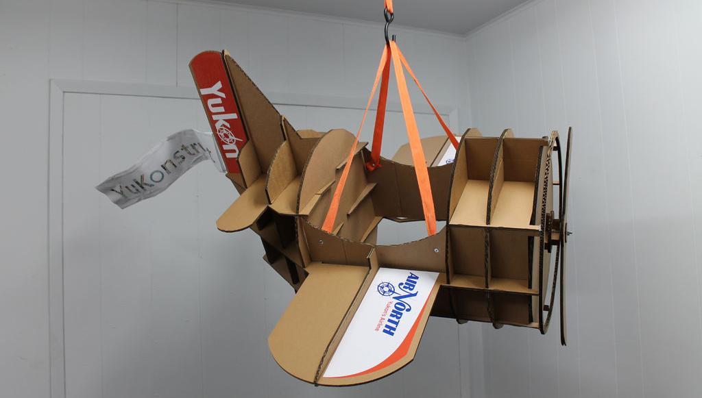 Самодельный самолетик из картона