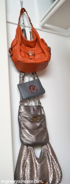 Настенный органайзер для женских сумок