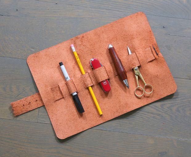 Простой органайзер для карандашей своими руками