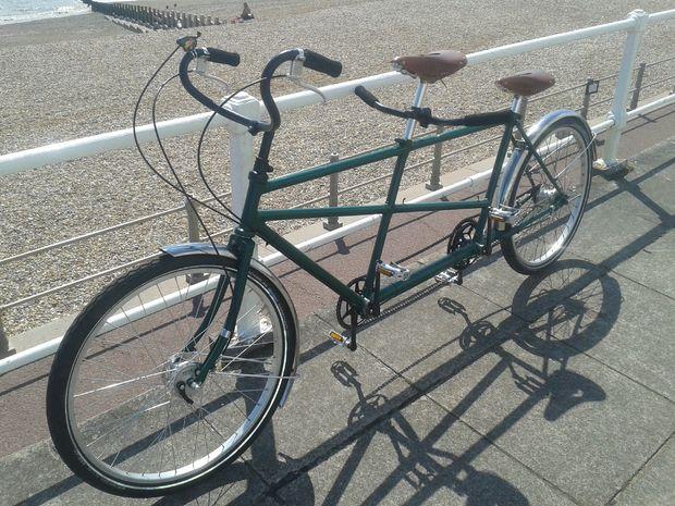 Самодельный двухместный велосипед