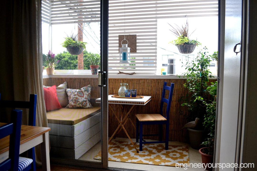 Самодельный пуфик для балкона