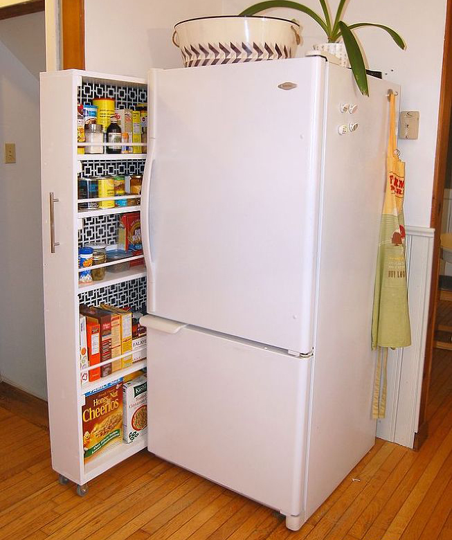 Выдвигающийся шкафчик для кухни
