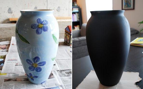 Декорирование вазы для цветов своими руками