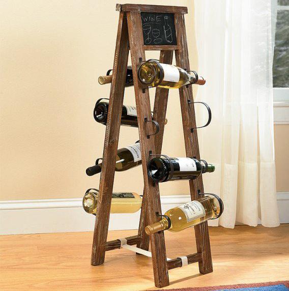 Деревянная стойка для хранения вина