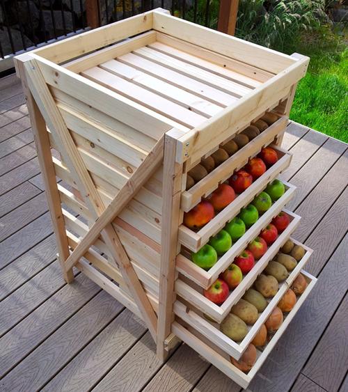 Удобное хранение овощей и фруктов