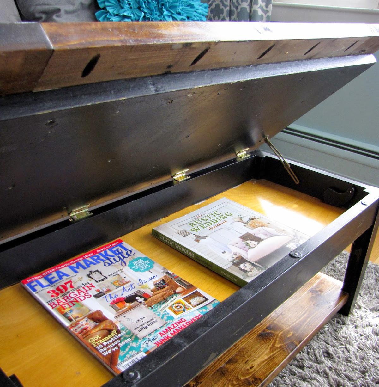 Журнальный столик с потайным местом