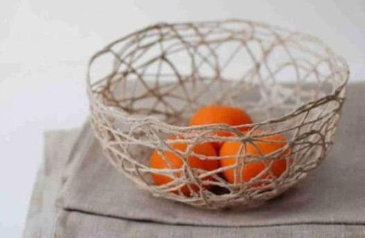 Корзинка для фруктов из бечевки