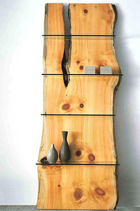 Стеллаж из массива древесины