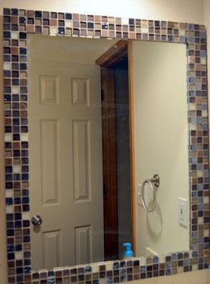 Классный декор зеркала в ванной комнате