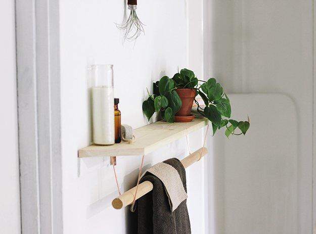 Полка с держателем для полотенца