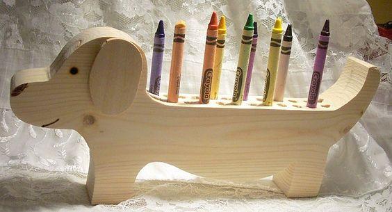 Деревянные подставки под карандаши