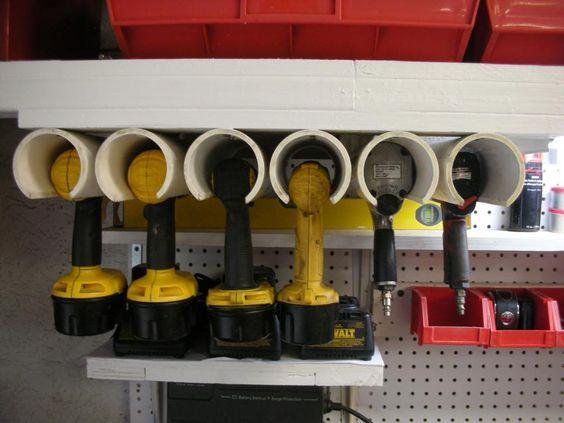 Использование ПВХ труб для хранения инструмента