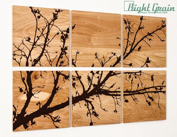 Модульные картины из дерева