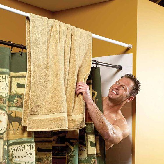 Шторка для ванны с полотенцедержателем