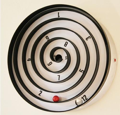 Настенные спиральные часы