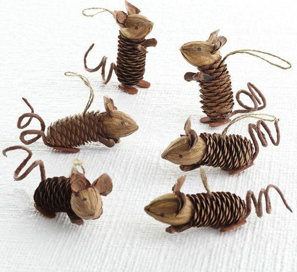 Поделки из шишек - Елочные игрушки