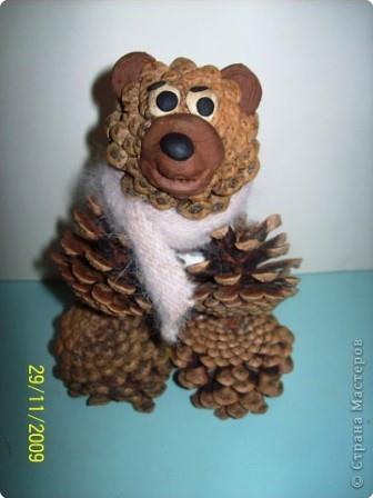 Поделки из шишек своими руками - Медведь