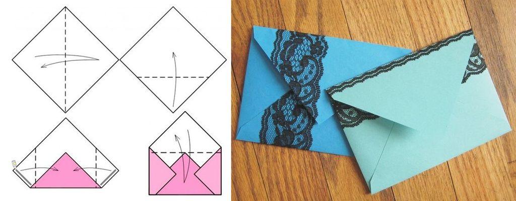 Схема изготовления конверта №1